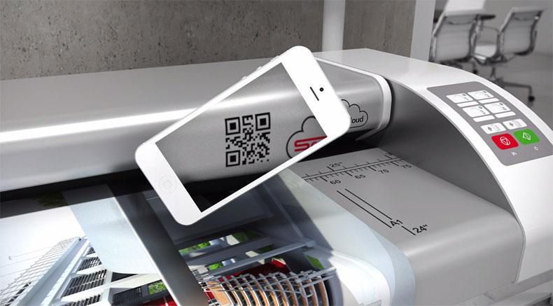 scancloud-smartphone-qr_code ROWE Scan 450i |大幅面彩色打印机|扫描仪|蓝图机|工程机|叠图机|裁切机专家